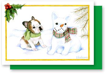 French bulldog christmas card still a dreamer looking m4hsunfo