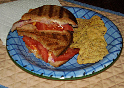 Grilled cheese with simple veggies