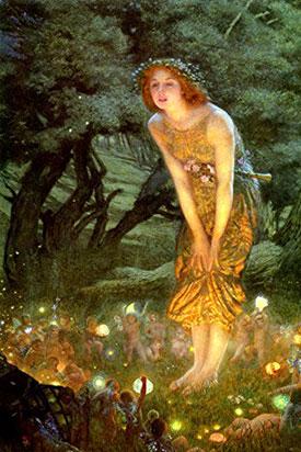 Midsummer Eve painted by Robert Hughes, 1908